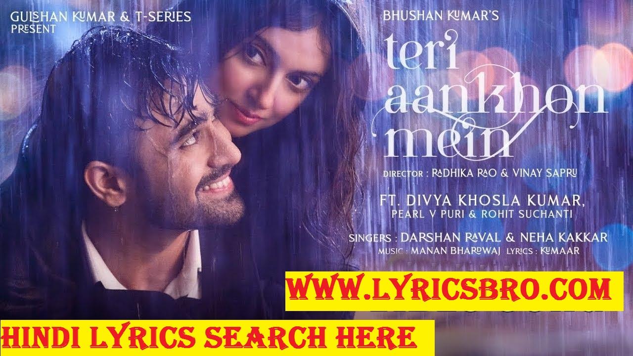 teri-aankhon-mein-lyrics-in-hindi-darshan-raval