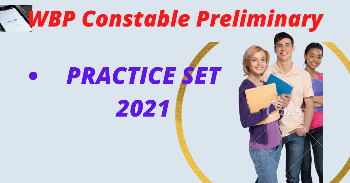 WBP Constable Preliminary Most Important Question practice set Bengali PDF Download