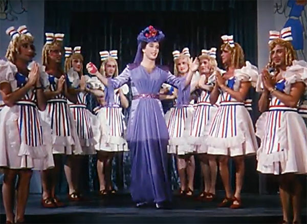 Alan Manson and Others femulating in the 1943 film This is the Army.