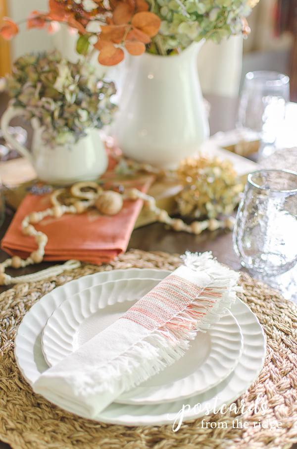 white ironstone thrift store dishes