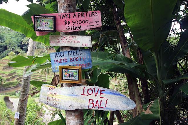 Photo souvenir à Tegalalang