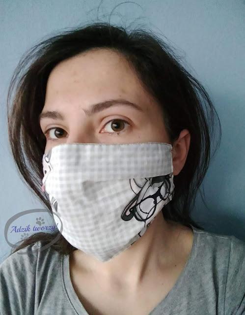 Adzik tworzy - maski ochronne DIY z czego szyć, jak nosić, jak prać