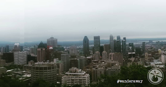 view of Montréal from the Chalet du Mont-Royal