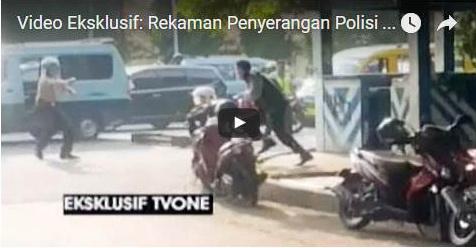 VIDEO: Penyerangan Polisi Gegerkan Masyarakat Tangerang Kota, Ini Yang Dibawa Pelaku