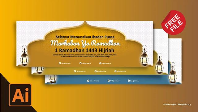 Download Contoh Spanduk Ramadhan adobe Illustrator gratisaw Gratis