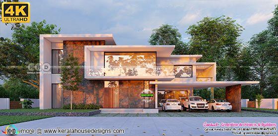 Minimalist contemporary house rendering