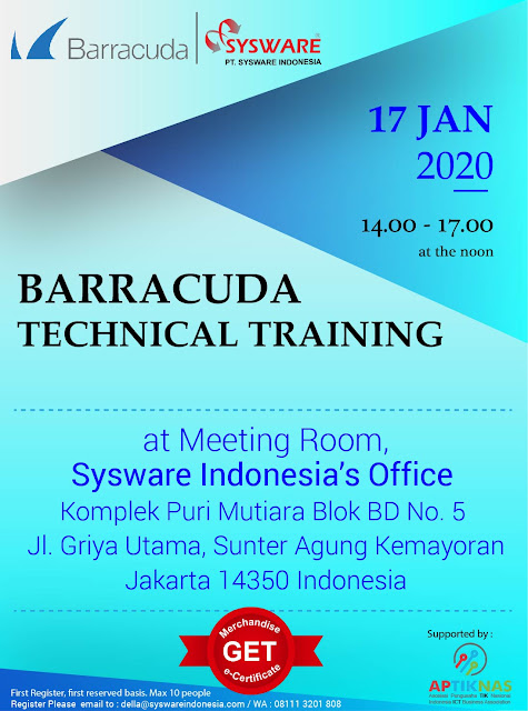 BARRACUDA Technical Training 17 Januari 2020