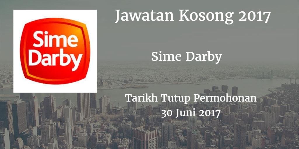 Jawatan Kosong Sime Darby 30 Juni 2017