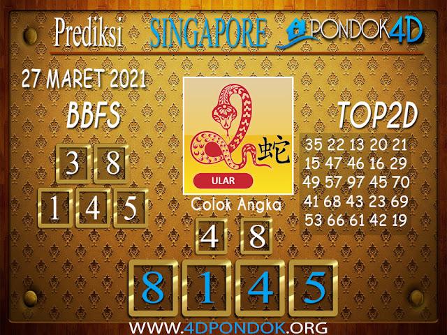 Prediksi Togel SINGAPORE PONDOK4D 27 MARET 2021