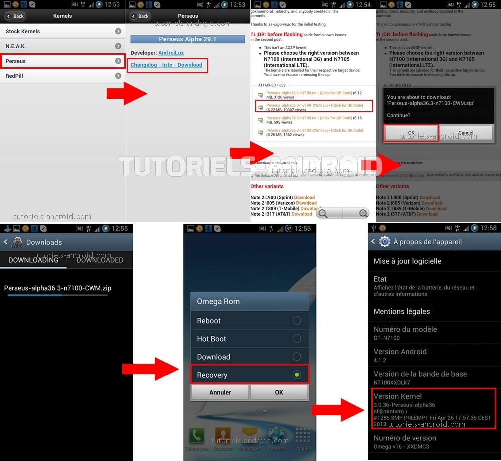 Omega Files : Installer Perseus GT-N7100