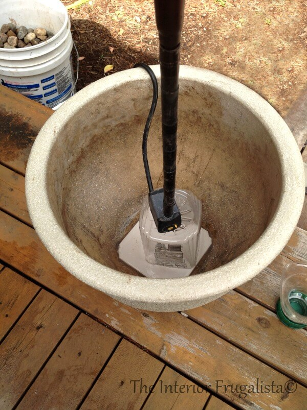DIY Plant Pot Water Fountain Step 2