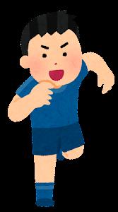 走る人たちのイラスト(スポーツ・男性3)