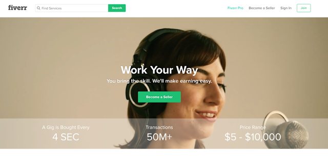 earn money online Sell your skills on Fiverr