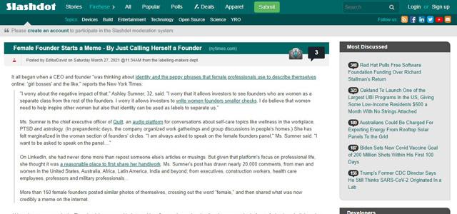 Slashdot - Blog Teknologi Terpopuler