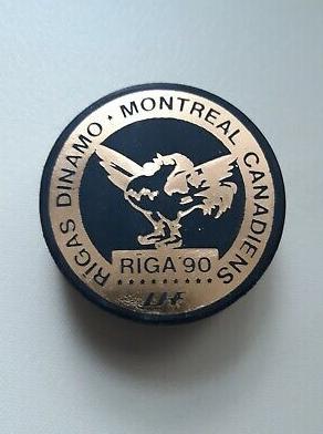 "Значок игры ""Динамо"" Рига против ""Монреаль Канадиенс"" // Poster of the match ""Dynamo"" Riga vs ""Montreal Canadiens"""