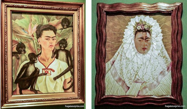 """Frida Kahlo: Autorretrato com Macacos (1943) e Autorretrato como Tehuana ou """"Diego em Meu Pensamento"""""""