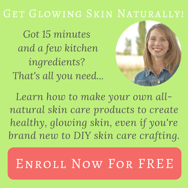 Get started making your own all-natural skin care products, in just 15 minutes with simple ingredients you already have in your kitchen. Enroll in the FREE e-course to get started.