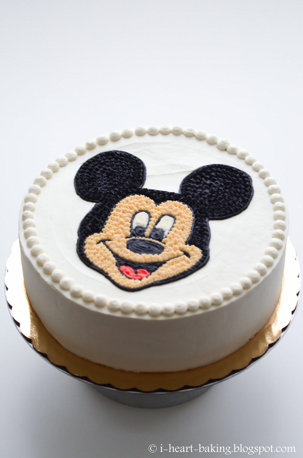 i heart baking!: mickey mouse face birthday cake