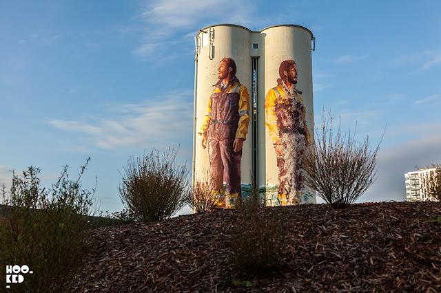 Fintan Magee Street Art Mural in Stavanger for Nuart Festival