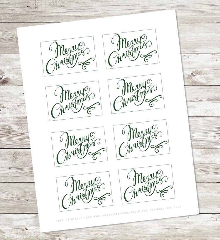 Hand lettered Christmas gift tags