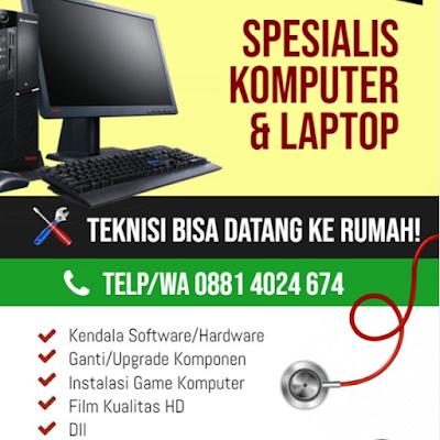 servise laptop dan komputer tasik