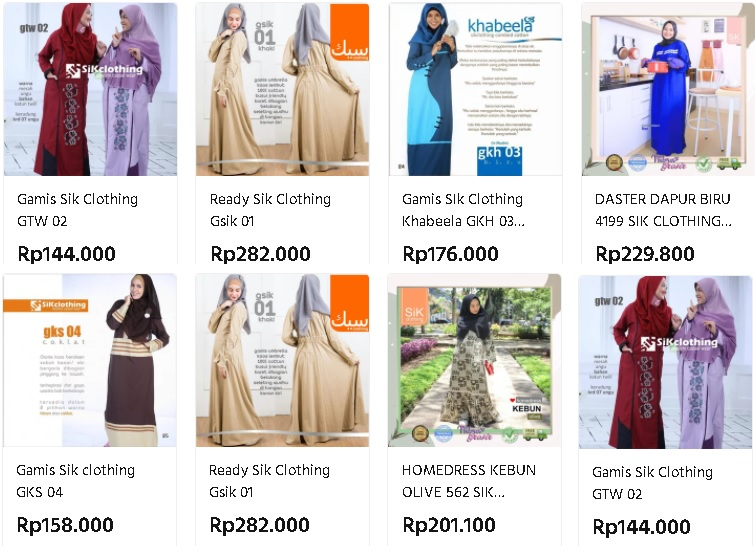 harga sik clothing 2021