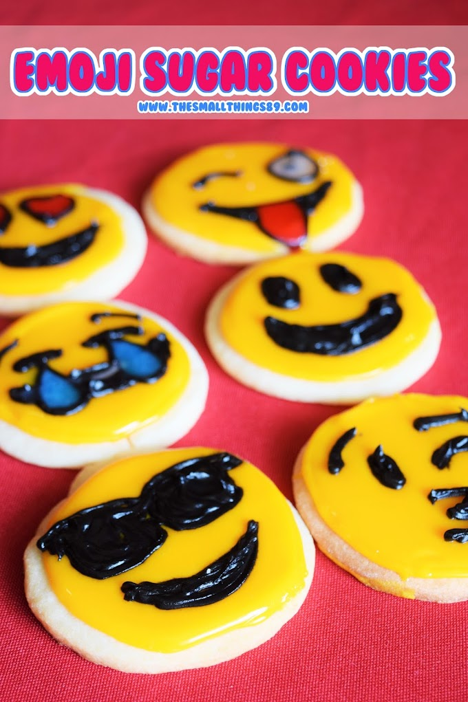 Easy No- Chill Sugar Emoji Cookies!