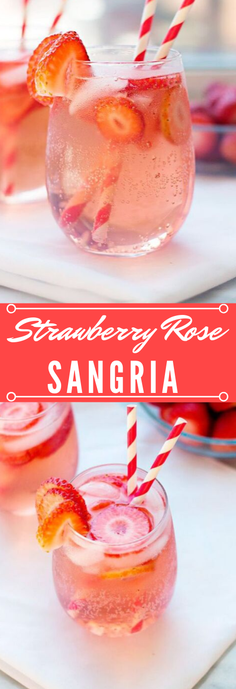 Strawberry Rosé Sangria #strawberry #sangria #drink #freshdrink #party