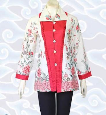 Contoh Model Baju Batik Atasan elegan