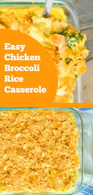 Easy Chicken Broccoli Rice Casserole | recipes casserole | recipes chicken | recipes chicken rice | recipes broccoli rice | recipes dinner #chicken #broccoli #rice #casserole #chickenrice #dinner