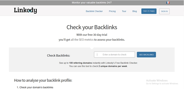 Free SEO  Backlink Checker Tools