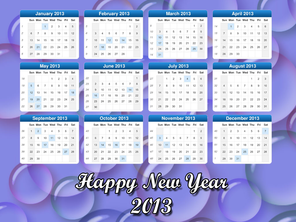 New Year Desktop Calendars 2013 Decorate Desktop With New Year Theme