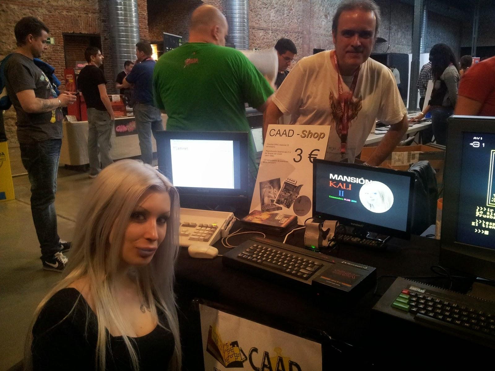 bony junto a Rockersuke con el Mansion Kali II en un ZX Spectrum