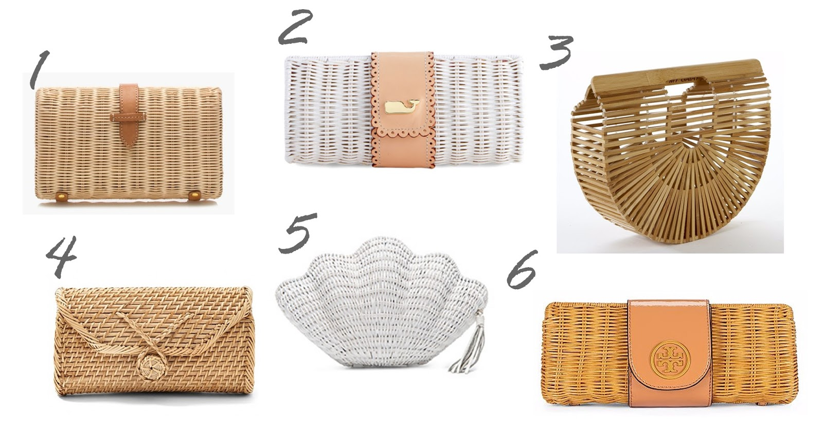 J. Crew handbags, Vineyard Vines handbags, wicker clutch, straw clutches, wicker clutches and rattan clutches