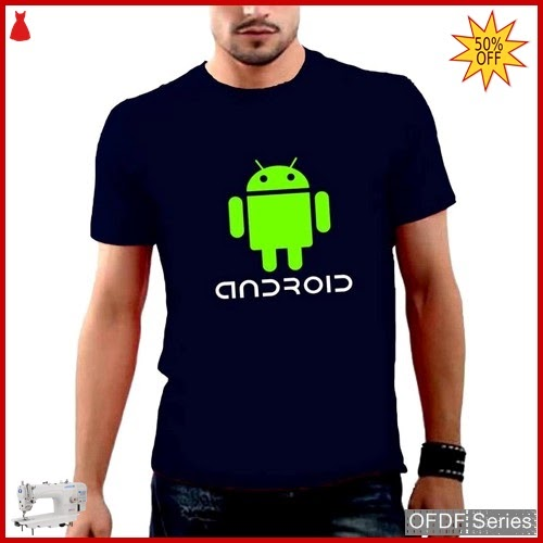 OFDF253 Kaos Pria Spandex Android Green Modis BMGShop