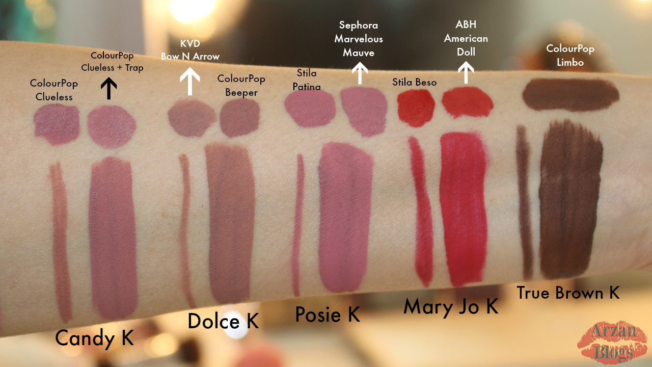 Beauty kylie cosmetics lip kits swatches review amp dupes