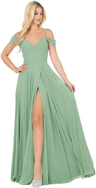 Gorgeous Green Chiffon Bridesmaid Dresses