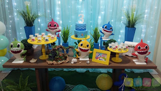 Decoração festa infantil Bebê Tubarão