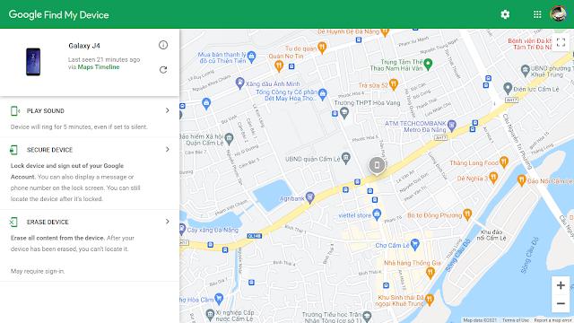Tìm điện thoại thất lạc bằng Google (Find My Device)