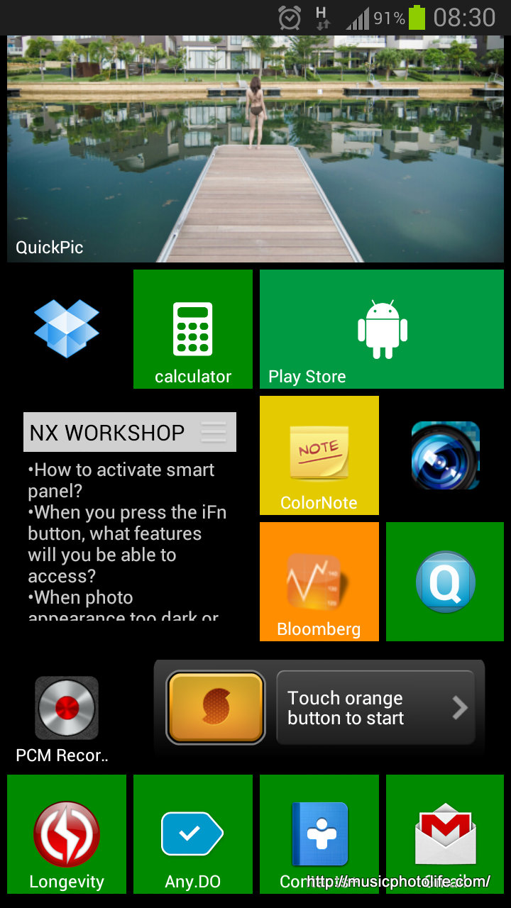 Android Launcher Like Windows Phone Interface: Launcher 8