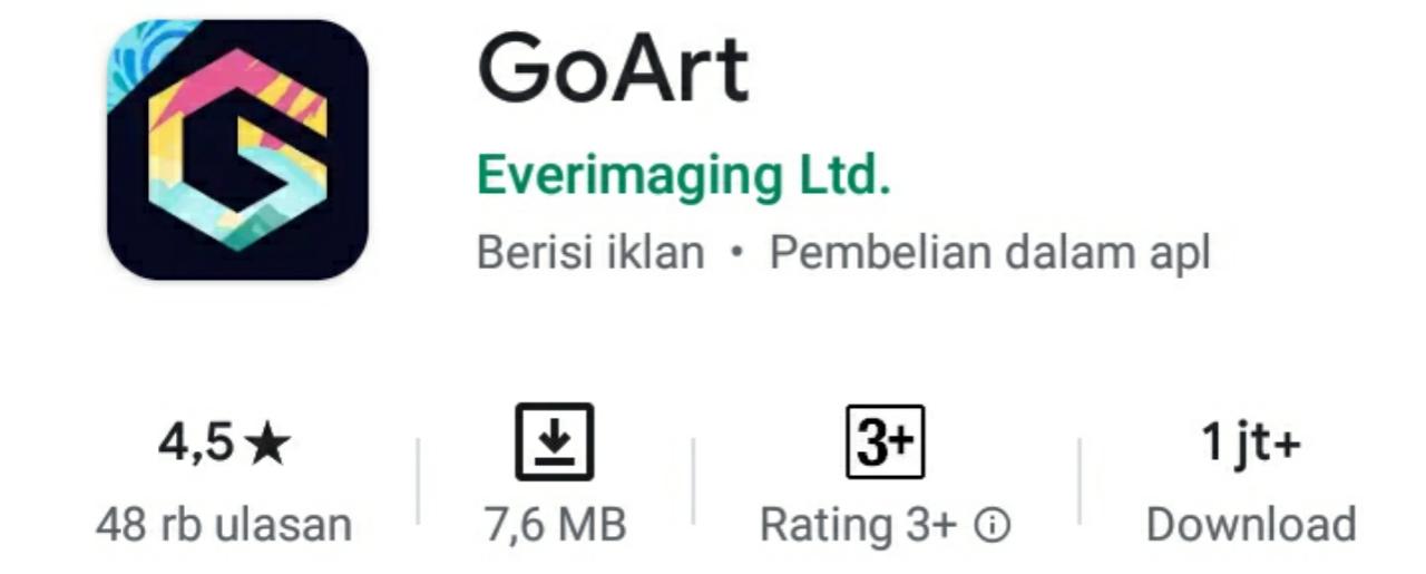 Goart Aplikasi untuk mengubah foto menjadi anime atau kartun