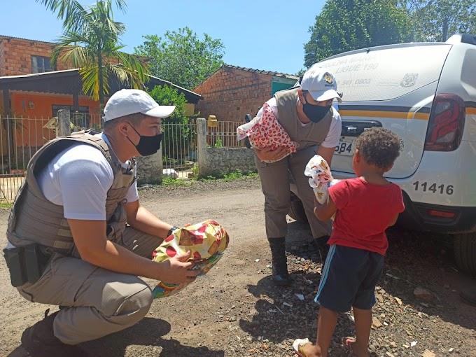 Campanha da Brigada Militar de Cachoeirinha vai ajudar 1.100 crianças neste Natal