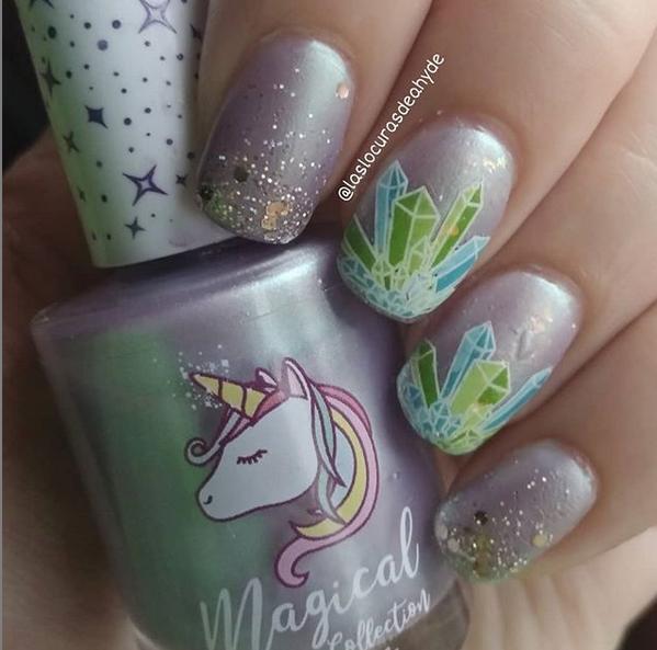 manciura cristales magicos en lila claro