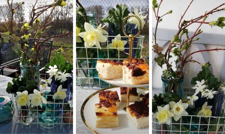 Kaffee und Kuchen im Garten