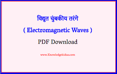 विद्युत चुंबकीय तरंगे ( Electromagnetic Waves )