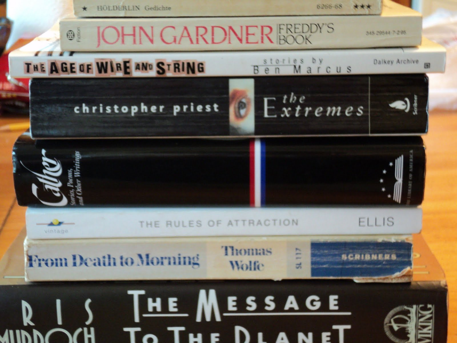 The Gardner Book In Particular Interests, As Does The Wolfe Story  Collection Curious About Iris Murdoch, So She Certainly Will Be Read  Shortly
