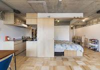 Industrial design idea for apartment interior