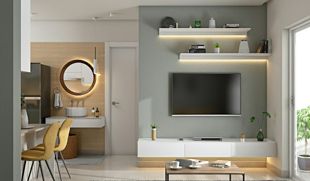 A Modern 2 BHK Home With Stylish Interiors