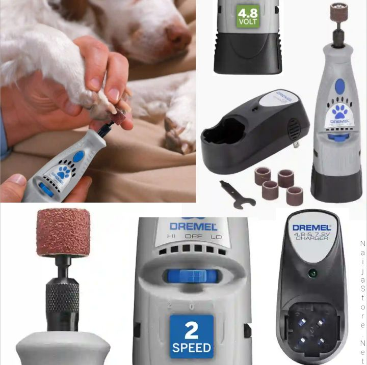 Dremel Dog Nail Trimmer 7300-PT: Rechargeable Claw Clipper, Grinder, Grooming and Nail Cutting Kit for Pet Animals