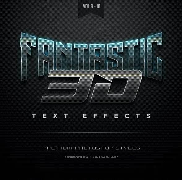 Graphicriver 3D Text Effects Bundle Two 22589005 Vol.[6-10]